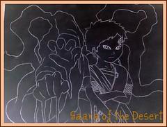 Gaara of the Desert (DangoLynx) Tags: sand hand desert cast characters drawn coffin naruto members suna gaara jutsu temari kankuro
