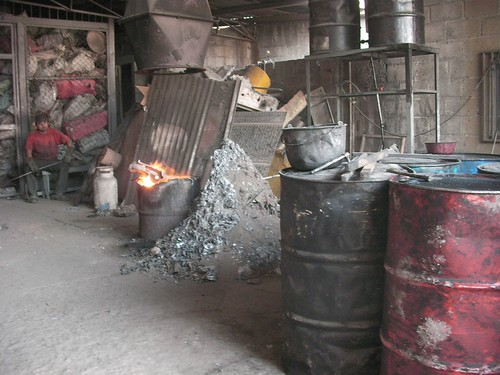 At the pewter factory