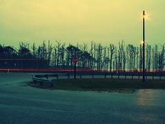 Coming home on the Chesapeake Bay Bridge (yo_steedgirl) Tags: longexposure sunset lights traffic dusk naturallight va virginiabeach hamptonroads chesapeakebaybridge hownice dadstoppedatthescenicoverlooksowecouldtakepictures