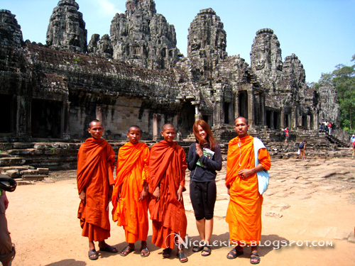 nicolekiss with bayon monks