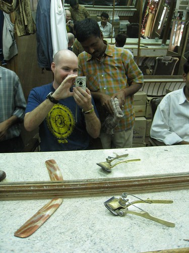 Getting a haircut...Indian style!