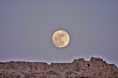 masada full moon 17june 2008 6-18-2008 8-29-11 PM.. (A   M) Tags: sea moon june dead desert unesco full 17 isreal 2008  masada judea