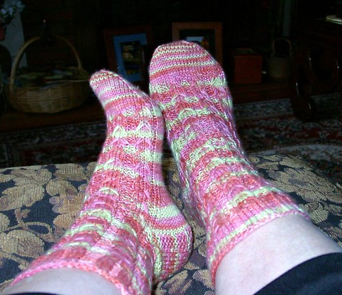 Slip Stitch Cable Socks