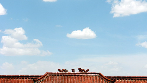 A roof west of Qingquan, Gansu Province, China