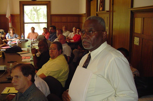 James Andrews and leaders of affiliated unions at leadership meeting July 16, 2008
