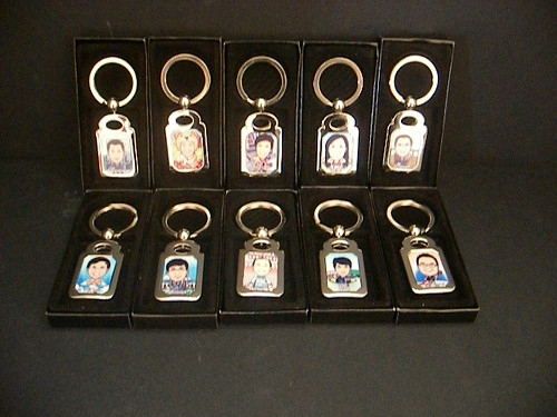 Caricature Drawing In Print Onto Key-Chain (Phillip)