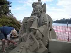 Cubist sand art, Port Angeles