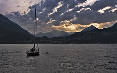 Como Lake (Giuseppe Andrea) Tags: sunset wallpaper sky cloud como gold boat sailing ship wind sail lombardia numb italians wether meteo varenna 1280x800 abigfave ultimateshot naturethroughthelens