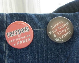 Political Buttons: Freedom and Rights