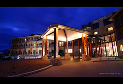 Novotel Forest Resort, Creswick (Adam Dimech) Tags: architecture night forest hotel evening twilight apartment dusk australia victoria resort novotel creswick forestresort novotelforestresort