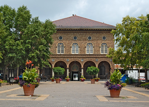 Soulard Farmer's Market, in Saint Louis, Missouri, USA - exterior view of main building