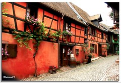 Riquewihr / Elsass (unicorn 81) Tags: old red house france color building history architecture geotagged countryside frankreich colorful europa europe village eu alsace architektur colourful coloured gebude halftimbered lafrance countryhouse cottages fachwerk timbered colombages fachwerkhaus halftimber riquewihr mapfrance halftimberedhouse timberedhouse ruralhouses diamondclassphotographer flickrdiamond unicorn81 franceholiday2008 fotogaleriefrankreich fachwerkbauhalftimberedbuilding