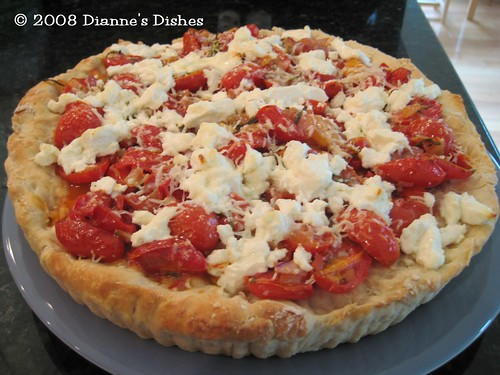 Tomato Goat Cheese Pizza Tart