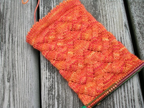 Orange Julius socks (by aswim in knits)