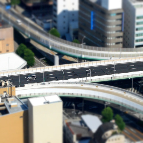 Highway - Tilt-Shift Fake Miniature