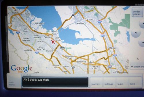 Google Maps on Virgin America