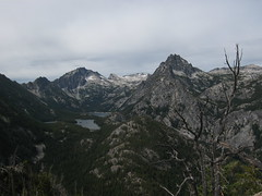 080824_003-Snow Lakes and the Temple from the ridge (Blewett (historical), Washington, United States) Photo
