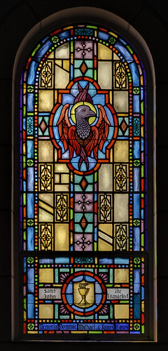 Saint John the Baptist Roman Catholic Church, in Villa Ridge (Gildehaus), Missouri, USA - stained glass window 2