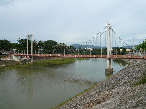 There's a hanging bridge in lampang