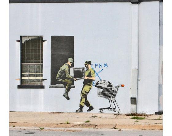 estencil y graffiti