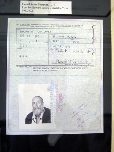 Edward Gorey's Passport