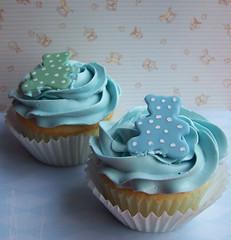 Baby shower cupcakes - teddy bear (cakespace - Beth (Chantilly Cake Designs)) Tags: bear blue toronto cakes beth cupcake mississauga babyshower buttercream decoratedcupcake buttercreamswirl custommadecupcake babyboycupcake cakespacebeth braziliancakestoronto