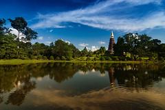 Wat Chetiya Khiri (kktp_) Tags: sky water clouds reflections thailand temple nikon nongkhai d80 tokinaatx124afprodx1224mmf4 watchetiyakhiri phuthok