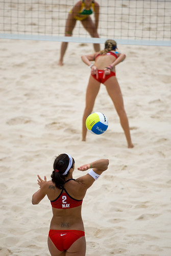 Service Up Misty May Treanor serving