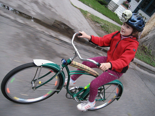 Chloe on her new Schwinn