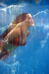 Mermaid underwater (JoelDeluxe) Tags: newmexico expo statefair albuquerque nm mermaid joeldeluxe 2008