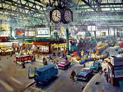 Terence Cuneo Painting (PeterEdin) Tags: york city railroad england art museum lumix artwork yorkshire transport paintings rail railway loco trains canvas artists cuneo painters northyorkshire nrm nationalrailwaymuseum locomotives waterloostation cityofyork panasoniclumix nationalmuseums historiccities terencecuneo dmctz3 tz3 panasonictz3 panasonicdmctz3 yorkshireandhumbershire