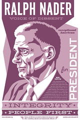 Ralph Nader Poster (pjchmiel) Tags: illustration poster design purple politics presidentialelection dissent ralphnader probono election08 nadergonzales thirdpartycandidate electiongraphics usgreencandidate