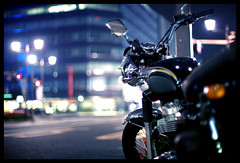 Ginza #36 (mechanics) Tags: city urban japan night 50mm tokyo nikon asia dof bokeh september triumph  nippon  nikkor 2008 nihon kanto mechanics f12 mortorcycle 50mmf12ais d700 september2008 september152008