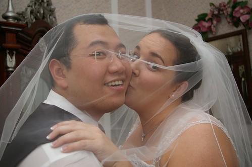 kissing under the veil