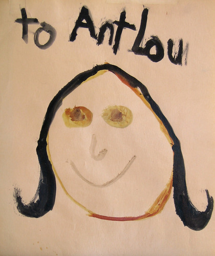 Childs drawing entitled Ant Lou