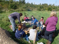 Archaeology students 17 (theunderstudy) Tags: world archaeology students saint pauls peters jarrow weaving sunderland looms wools bedes