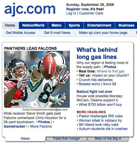 AJC.com linking to hashtag results