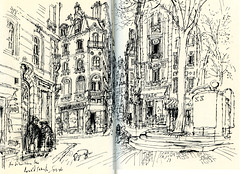 Ronald Searle Sketches (Riviera SketchCrawl) Tags: ronald sketches searle