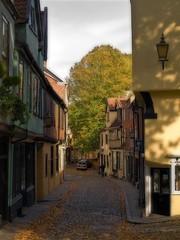 Elm Hill (Gerry Balding) Tags: england norfolk medieval cobblestones norwich shops halftimbered orton eastanglia elmhill