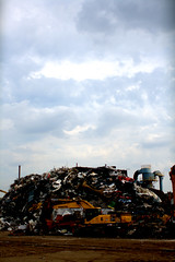 (Brian Hagy) Tags: sky cloud chicago metal illinois il pile scrap