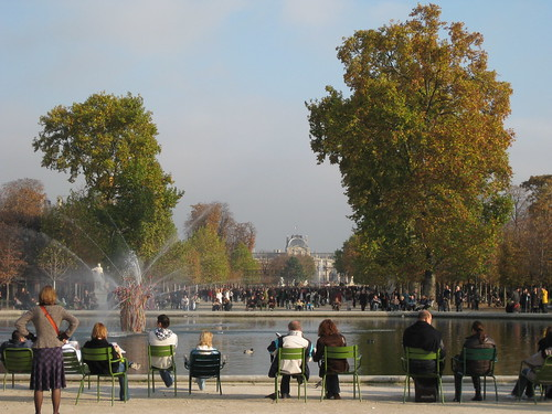 Jardin des tuileries à l'occasion d'une ballade
