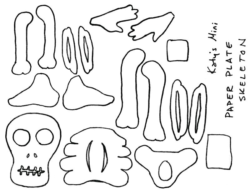 ... paper plate skeleton! Download the pattern!  sc 1 st  Anthrid & Anthrid- Den of a Thoughtful Rabbit: Paper Plate Skeleton