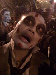zombie rik in NYC Halloween Parade 2008