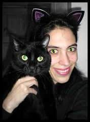 Me & my Kitty (Julia-D) Tags: pet selfportrait me cat eyes catnipaddicts