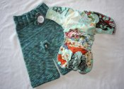 Koto Dragon - longies and diaper set - small