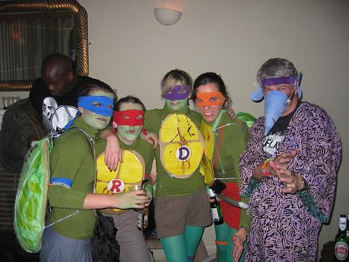 Ninja Turtles and Master Splinter