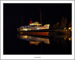 Maid of the Loch at Balloch Pier (flatfoot471) Tags: night scotland ship balloch lochlomond paddlesteamer valeofleven psmaidoftheloch