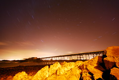 Birnbeck Pier, Birnbeck Island, Weston-super-Mare (AndWhyNot) Tags: light sea water rock night dark bristol island star pier nikon long exposure trails sigma andrew boulder estuary pollution disused 1020 derelict tidal channel westonsupermare whyte 15m redevelopment birnbeck andwhynot d80
