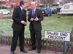 Liam and Keith Hill (Liam Byrne MP) Tags: green hill parliament liam heath end mp member shard rt hon byrne hodge campaigning bordesley washwood
