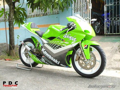 Modifikasi Cutting Sticker Ninja Motor Drag